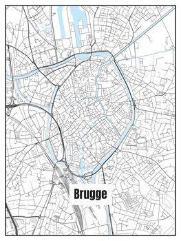 Karta över Brugge