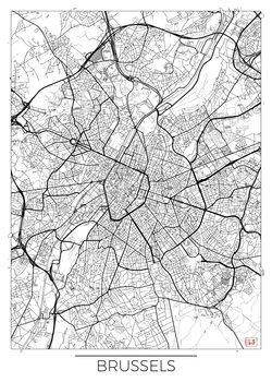 Karta över Brussels
