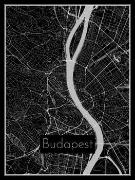 Karta över Budapest