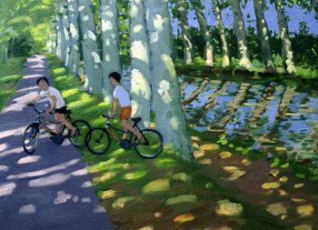 Konsttryck Canal du Midi, France