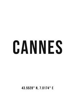 Illustration Cannes simple coordinates