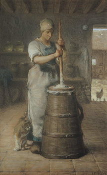 Konsttryck Churning Butter, 1866-68