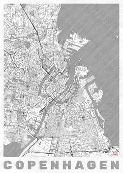 Karta över Copenhagen