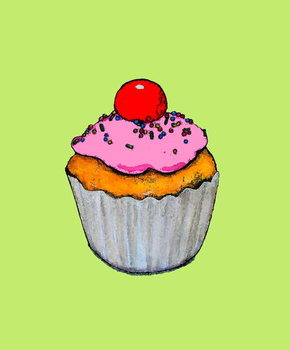 Konsttryck Cupcake,2005