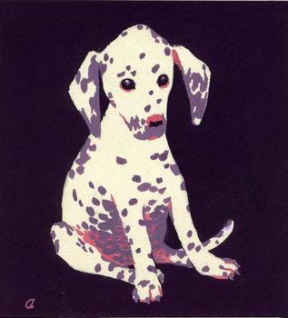 Konsttryck Dalmation Puppy, 1950s