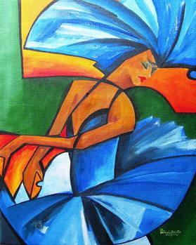 Konsttryck Dance in blue, 2008