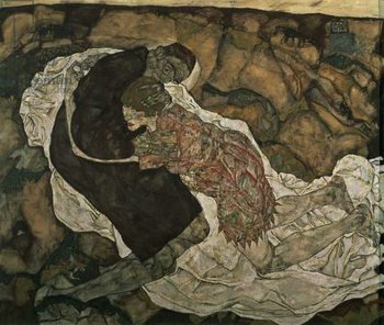 Konsttryck Death and the Maiden , 1915