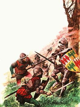 Konsttryck Death of the Earl of Warwick
