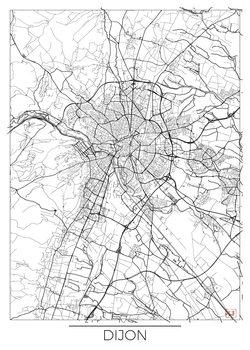 Karta över Dijon