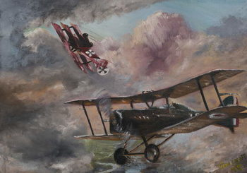 Konsttryck Dogfight 1917, 1995,