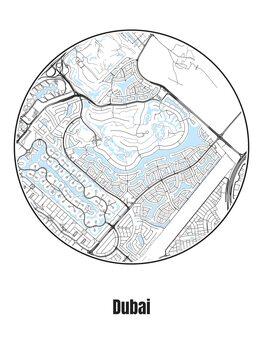 Karta över Dubai