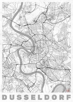Karta över Dusseldorf