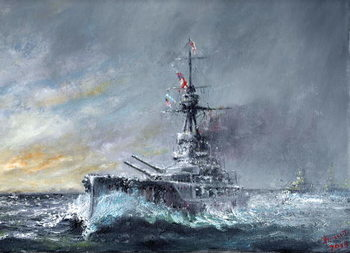 Konsttryck Equal-Speed-Charlie-London, Jutland 1916, 2015,