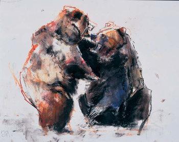 Konsttryck European Brown Bears, 2001