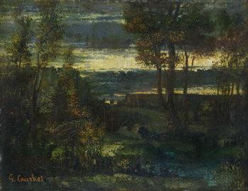 Konsttryck Evening Landscape