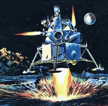 Konsttryck First Moon Men