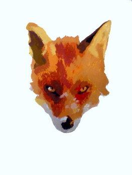 Konsttryck Fox face, 2013