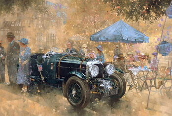 Konsttryck Garden party with the Bentley
