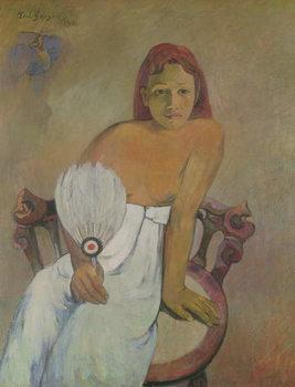 Konsttryck Girl with fan, 1902