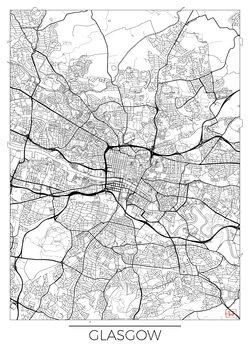 Karta över Glasgow