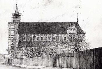 Konsttryck Gorton Monastery, 2006,