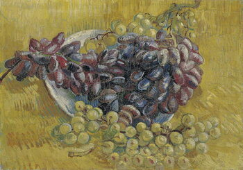 Konsttryck Grapes par Gogh, Vincent, van . Oil on canvas, size : 33x46,3, 1887, Van Gogh Museum, Amsterdam