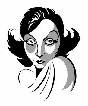 Konsttryck Greta Garbo, Swedish actress, 1905-1990