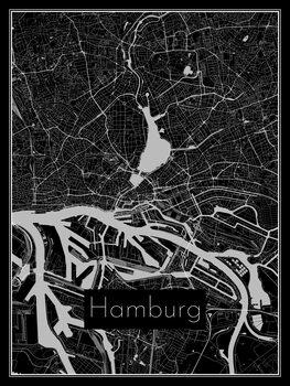 Karta över Hamburg