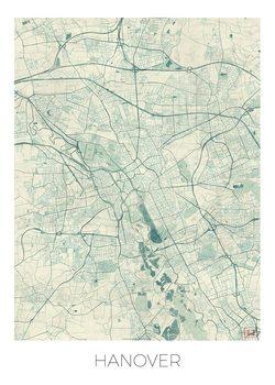 Karta över Hanover