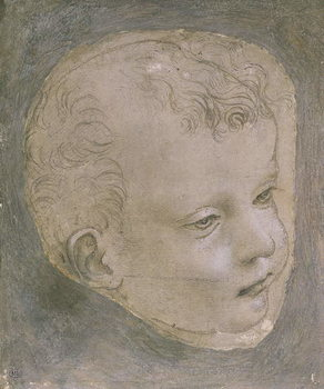 Konsttryck Head of a Child