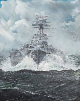 Konsttryck HMS Hood heads for Bismarck 23rd May 1941, 2014,