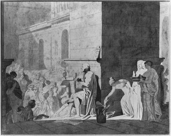 Konsttryck Homer reciting his poems, 1794