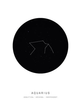 Illustration horoscopeaquarius