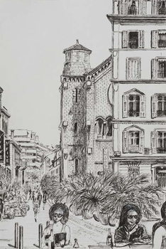 Konsttryck Hotel 5 and Notre Dame Cannes, 2014,
