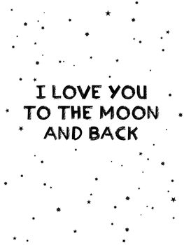 Illustration I love you to the moon and back
