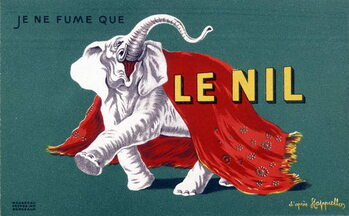 """Konsttryck I only smoke the Nile. Cigarette advertising poster """""""" The Nile"""""""" by Leonetto Cappiello . sd. 20th century"""