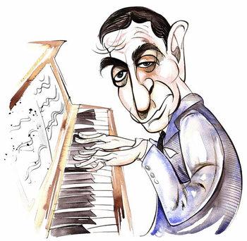 Konsttryck Irving Berlin - caricature