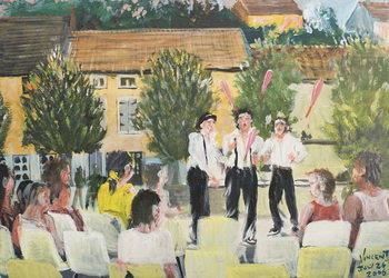 Konsttryck Italien Performers, Laignes, France. 2006,