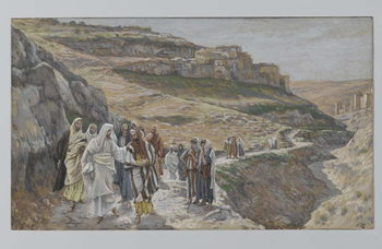 Konsttryck Jesus Discourses with His Disciples, illustration from 'The Life of Our Lord Jesus Christ', 1886-96