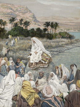 Konsttryck Jesus Preaching by the Seashore, illustration for 'The Life of Christ', c.1886-96