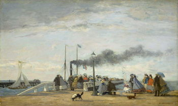 Konsttryck Jetty and Wharf at Trouville, 1863