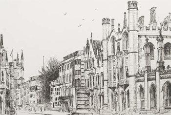 Konsttryck Kings College, Cambridge, 2007,