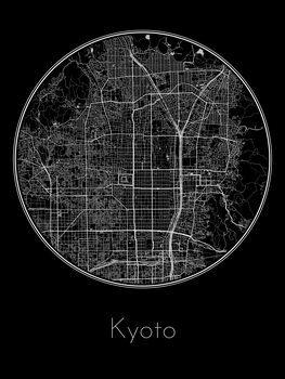 Karta över Kyoto