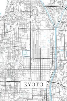 Karta över Kyoto white