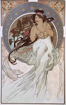 Konsttryck La Musique - by Mucha, 1898.