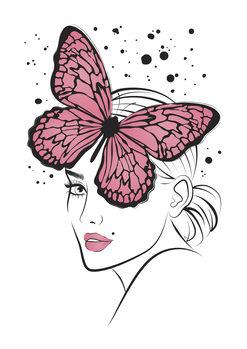 Illustration Lady Butterfly1
