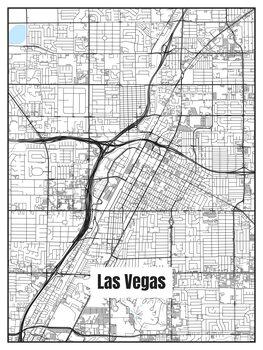 Karta över Las Vegas