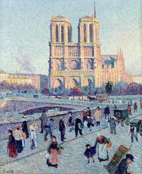 Konsttryck Le Quai St. Michel and Notre Dame, 1901