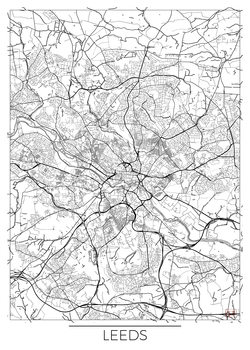 Karta över Leeds