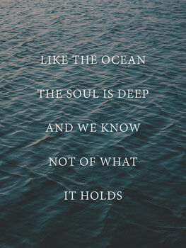 Illustration Like the ocean the soul is deep